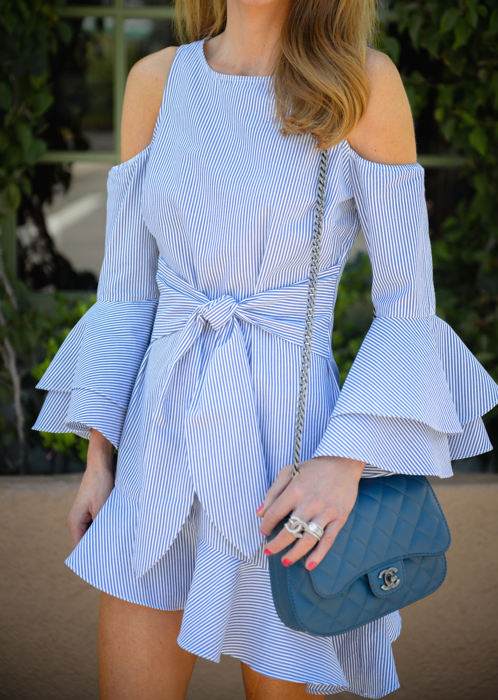 fb82320218b51 Blue and white stripes are essential for warm temps and I found so many  cute dresses that I linked below. Any of these would be such fun 4th of  July options ...