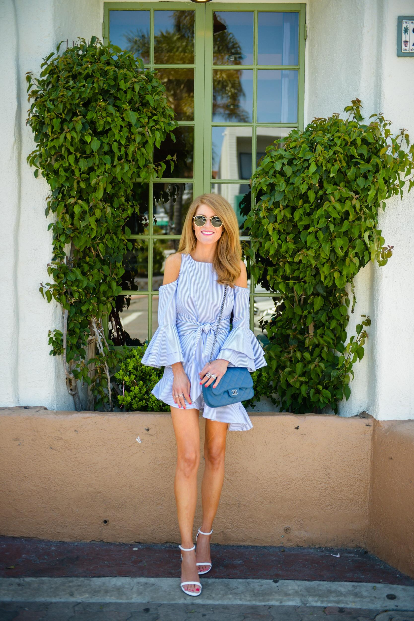 c1db8f49a8 ... this most fun striped dress from Intermix (it s on sale!! And so fun  they have their own in store brand now!) Summer is ALL about the blue and  white ...